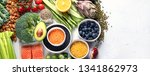 selection of healthy food.... | Shutterstock . vector #1341862973