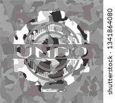 undo on grey camo texture | Shutterstock .eps vector #1341864080