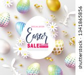 happy easter sale banner... | Shutterstock .eps vector #1341865856