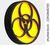 3d button of dangerous zone. 3d ...   Shutterstock . vector #1341868250