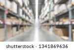 warehouse industry blur... | Shutterstock . vector #1341869636