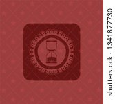 sand clock icon inside red...   Shutterstock .eps vector #1341877730