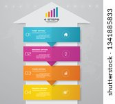4 steps arrow timeline... | Shutterstock .eps vector #1341885833