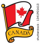 flag of canada | Shutterstock .eps vector #1341901613