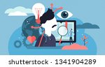 cognition vector illustration.... | Shutterstock .eps vector #1341904289
