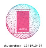 sphere with connected lines and ... | Shutterstock .eps vector #1341910439