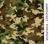 amouflage seamless pattern.... | Shutterstock .eps vector #1341910859