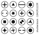 head bolt and screw icon set... | Shutterstock .eps vector #1341911159