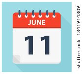 june 11   calendar icon  ... | Shutterstock .eps vector #1341914309