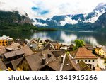 a view of hallstatt town the... | Shutterstock . vector #1341915266