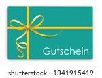 german text gutschein ... | Shutterstock .eps vector #1341915419
