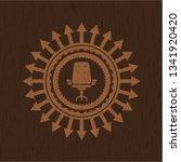 office chair icon inside badge...   Shutterstock .eps vector #1341920420