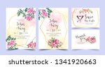 floral wedding invitation rose... | Shutterstock .eps vector #1341920663