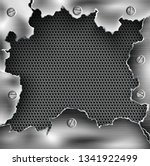 ragged hole torn in ripped... | Shutterstock .eps vector #1341922499