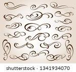 set of elegant decorative...   Shutterstock .eps vector #1341934070