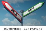 two street signs indication... | Shutterstock . vector #1341934346