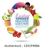 summer background template. eps ...   Shutterstock .eps vector #134194886