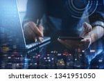 business technology concept ... | Shutterstock . vector #1341951050