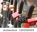 love locks  in the streets of...   Shutterstock . vector #1341965453
