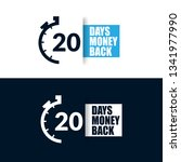 20 days money back sign  ... | Shutterstock .eps vector #1341977990