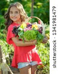 child with vegetables  | Shutterstock . vector #1341981479