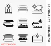 solarium icon vector sign... | Shutterstock .eps vector #1341986489