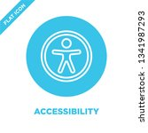 accessibility icon vector from... | Shutterstock .eps vector #1341987293