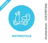 motorcycle icon vector from... | Shutterstock .eps vector #1341987446