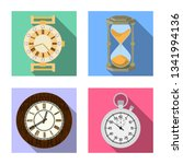 vector design of clock and time ... | Shutterstock .eps vector #1341994136