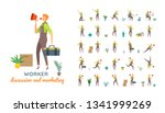 vector young adult man in... | Shutterstock .eps vector #1341999269
