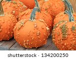 Orange Pumpkins Covered With...