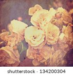vintage shabby card with gentle ... | Shutterstock . vector #134200304