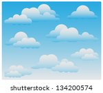 clouds | Shutterstock .eps vector #134200574