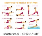 exercise set to relieve back... | Shutterstock .eps vector #1342014089