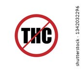 no thc red sign | Shutterstock .eps vector #1342032296