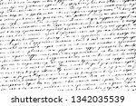 old damaged unreadable letter.... | Shutterstock .eps vector #1342035539