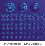 set of timers. sign icon. set... | Shutterstock .eps vector #1342038890
