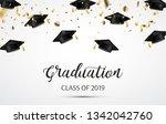 graduation. class of 2019.... | Shutterstock .eps vector #1342042760