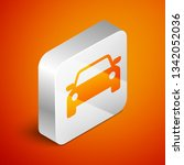 isometric car icon isolated on... | Shutterstock .eps vector #1342052036
