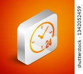 isometric clock 24 hours icon... | Shutterstock .eps vector #1342052459