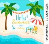 poster hello to summer  best... | Shutterstock .eps vector #1342052606
