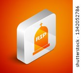 isometric tombstone with rip... | Shutterstock .eps vector #1342052786