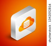 isometric cloud database icon... | Shutterstock .eps vector #1342052816