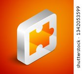 isometric piece of puzzle icon... | Shutterstock .eps vector #1342053599