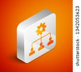 isometric lead management icon... | Shutterstock .eps vector #1342053623