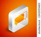 isometric chat icon isolated on ... | Shutterstock .eps vector #1342053683