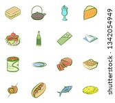 food images. background for... | Shutterstock .eps vector #1342054949