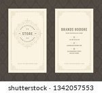 luxury business card and... | Shutterstock .eps vector #1342057553