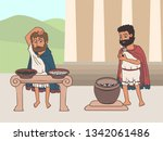 voting process in ancient... | Shutterstock .eps vector #1342061486