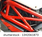 red frame of motorcycle... | Shutterstock . vector #1342061873